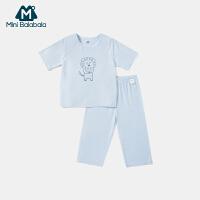 【618年中庆 2件3折价:60】迷你巴拉巴拉男女童套装2020夏新款男女宝宝透气凉爽短袖家居套装