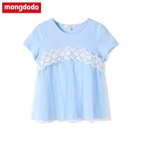 巴拉巴拉旗下梦多多女童T恤2019新款儿童短袖中大童宝宝圆领上衣