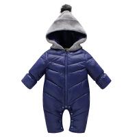 婴儿冬装宝宝连体爬服可爱保暖易穿衣服套装防风保暖羽绒衣棉裤