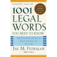英文原版 你必须知道的1001个法律词汇 牛津大学出版社 1001 Legal Words You Need to K