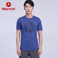 【土拨鼠超级品牌日】Marmot/土拨鼠户外运动男士棉感速干短袖T恤