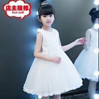 女童公主裙蓬蓬纱儿童主持人晚礼服裙子小花童婚纱裙钢琴演出服夏销售