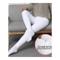 白色连裤袜舞蹈袜学生少女薄绒加绒加厚秋冬款日系长筒打底袜