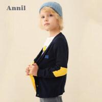 【活动价:148】安奈儿童装男童毛衣开衫春秋季2020新款学生洋气休闲针织开衫上衣