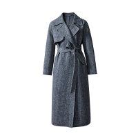 伊芙丽翻领长袖系带宽松大衣1A7970181Q