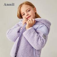 【2件3折价:200.7】安奈儿童装女童棉衣薄绒加厚2020新款泰迪绒洋气女孩外套保暖冬装