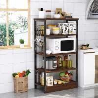 厨房置物架落地式多层收纳架碗架用品家用大全微波炉调料储物架子