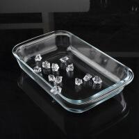 钢化玻璃盘长方形烤盘冷餐盘中药展示盘蒸鱼盘餐盘微波炉烤箱盘