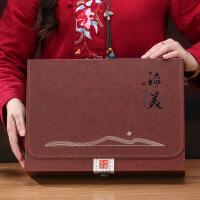 【特惠购】茶叶包装盒空礼盒新款铁观音一斤半斤装通用罐红茶绿茶高档仿木质 一斤装丨6罐 咖色