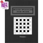 【中商海外直订】Math Puzzles for Kids Volume 1: 200 Puzzles Math Sq