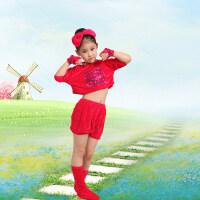 六一儿童节动物演出服儿童男女夏舞蹈服装小猫狗小兔子老鼠表演服 枚红小狗 90cm