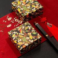 唐纸复古中国风礼物包装纸红色 婚庆礼品礼盒包装纸diy自粘手工包装纸情人节书皮特种艺术纸纸寿千年