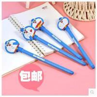 包邮哆啦A梦中性笔 全针管0.5mm 叮当猫水机器猫笔韩国创意文具 10支入
