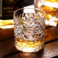 洋酒杯套�b玻璃杯��意啤酒杯抖音烈酒杯家用白酒杯