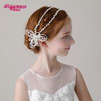 儿童发饰仿珍珠头饰女孩花朵头花发箍花环饰品花童演出配饰