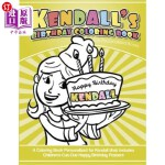 【中商海外直订】Kendall's Birthday Coloring Book Kids Personalized