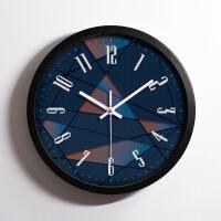 创意钟表现代简约时钟挂钟卧室静音挂表家用客厅大气个性表石英钟