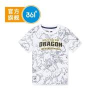 【下单立减】361度童装 男童T恤短袖上衣2019夏季新品驯龙高手IP款短袖
