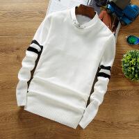 衬衣领毛衣男韩版学院风假两件打底针织衫学生潮流小清新白色线衣