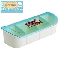 创意厨房用品储物器皿家用塑料调味罐调味盒套装多用途分格调料瓶SN8800 4格--蓝色