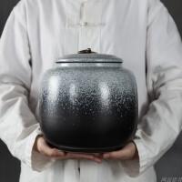 窑变茶叶罐陶瓷大号3斤装大号普洱密封茶饼罐储茶缸