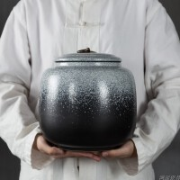 �G�茶�~罐陶瓷大�3斤�b大�普洱密封茶�罐�Σ韪�