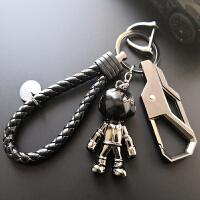创意男士酷汽车钥匙扣高档腰挂马蹄扣宇航员潮流小挂件