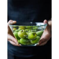 家用水果沙拉碗创意透明水晶玻璃碗甜品碗小碗蔬菜麦片碗