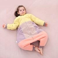 龙之涵儿童分腿睡袋秋冬季防踢衣服睡袋纯棉家居