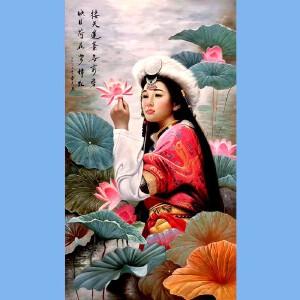 知名油画艺术家,福建省油画协会常务理事曾新伟(接天莲叶无穷碧)