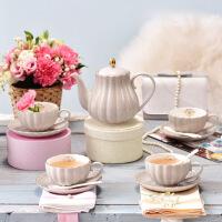 欧式茶具套装带碟下午茶英式红茶陶瓷咖啡杯具套装 13件