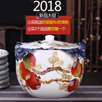 景德镇陶瓷茶叶罐普洱罐大号存储罐七子饼防潮散装茶叶储藏罐 图片色