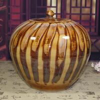 陶瓷米缸景德镇陶瓷手绘窑变米缸20斤水缸油缸油壶储物罐茶油坛管