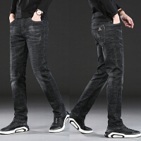 牛仔裤男春季新款男士休闲裤子男时尚弹力直筒小脚长裤