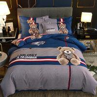自然醒商场同款加厚全棉儿童卡通磨毛四件套棉床单被套三件套双人被罩床上用品