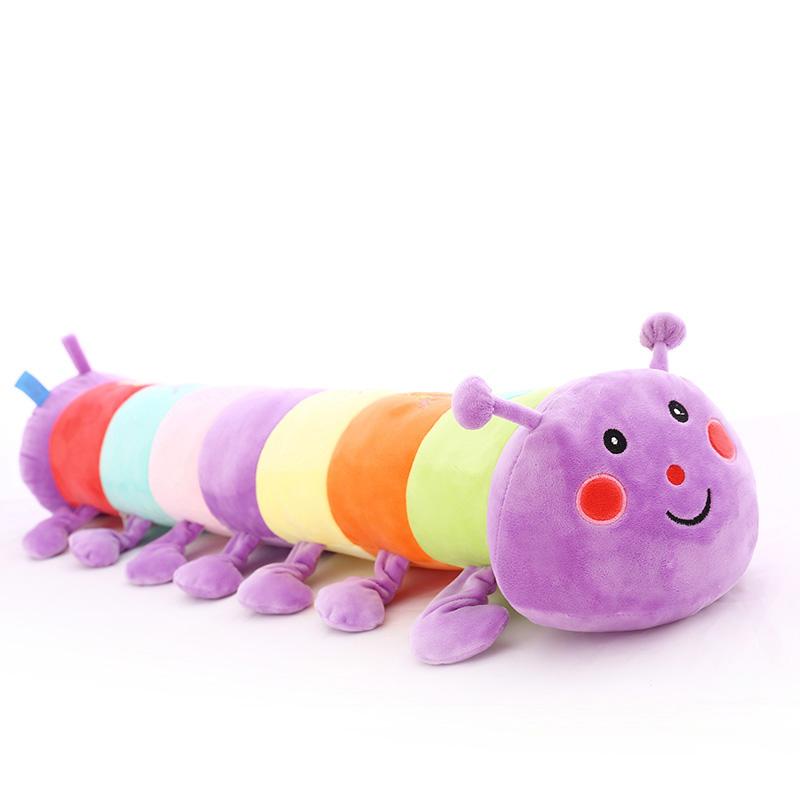毛毛虫毛绒玩具睡觉长条抱枕公仔可爱大玩偶萌布娃娃男女孩懒人