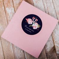 绒面手工DIY相册本影集纪念册浪漫创意个性拍立得情侣礼物纸制照片册子