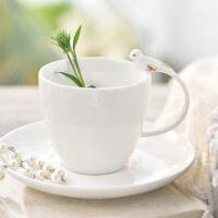 13件套小鸟咖啡杯具花茶具套装杯碟英式下午茶欧式景德镇陶瓷 图片色