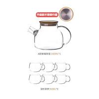 大容量玻璃冷水壶耐高温防爆耐热家用凉水壶泡茶壶冰白开水杯子 米