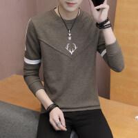 男士长袖T恤外穿秋衣上衣青少年春秋韩版潮流薄款针织衫学生毛衣