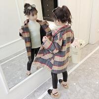 童装女童外套呢子大衣秋冬装2018新款韩版中大儿童女孩洋气中长款