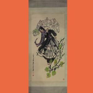 乡下回收的老画中国当代著名人物画家,国家一级画家史国良(喜悦)26