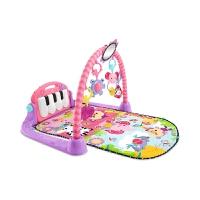 健身架器粉色BMH4849婴儿宝宝脚踏钢琴音乐游戏毯0-1岁
