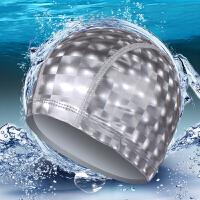 时尚水立方PU涂层游泳帽纯色大号成人男女四季通用长不勒头