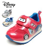 鞋柜/迪士尼魔术贴中小童防滑男童鞋运动鞋