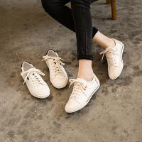 玛菲玛图欧美潮流小白鞋女春季单鞋女学院风时尚平底休闲鞋女5259-2