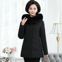 中老年女装短款羽绒服修身大码40岁50妈妈装加厚外套 X