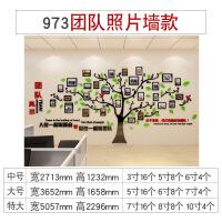 员工荣誉墙团队风采展示照片墙贴纸企业文化背景墙办公室装饰 973团队照片墙-红+浅绿+黑色 特