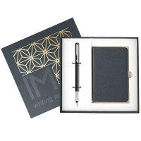 PARKER 派克 威雅黑色胶杆墨水笔/钢笔+笔记本礼盒套装