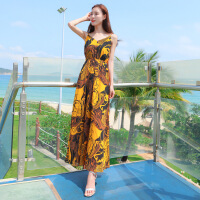 泰国普吉岛沙滩裙女夏季三亚海边渡假超仙显瘦吊带气质雪纺连衣裙 图片色